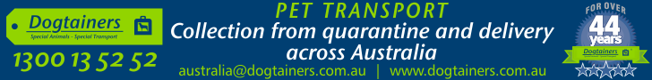Dogtainers Pet Transport Australia