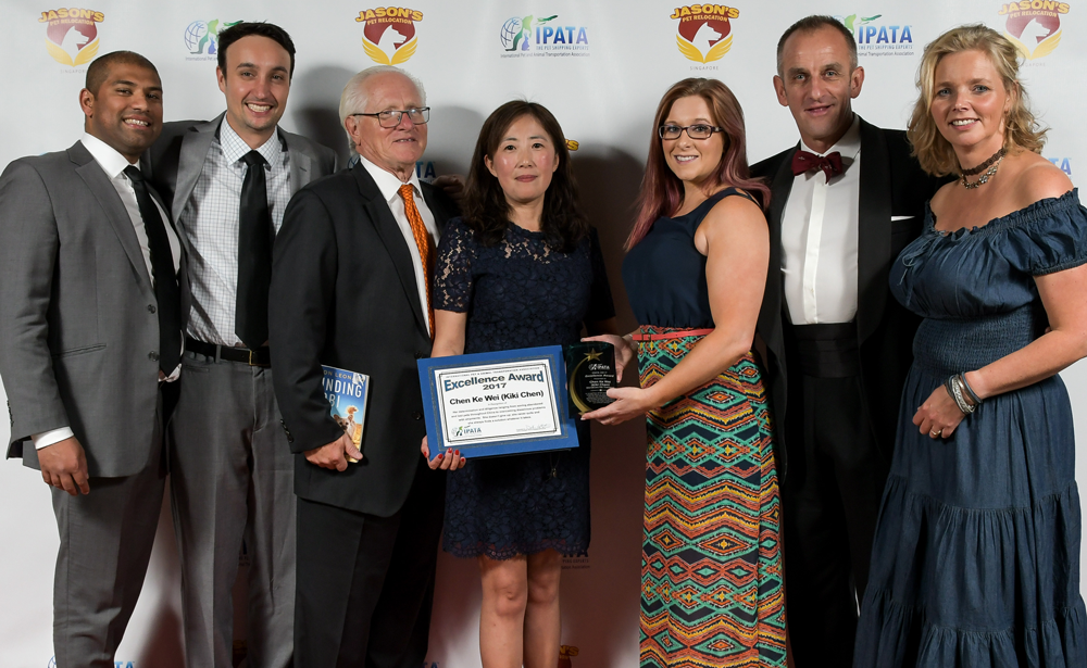 Kiki Chen Worldcare Pet Travel IPATA Excellence Award