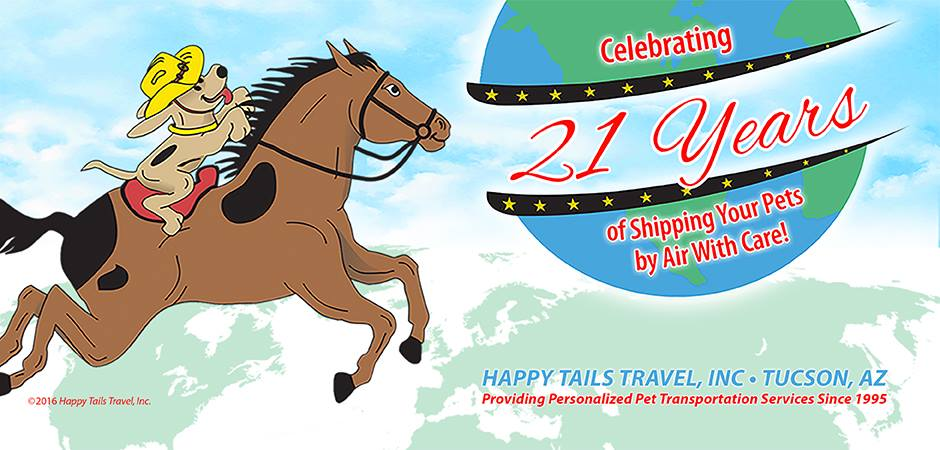 Happy Tails Travel Celebrates 20 Years of Shipping your pets by Air